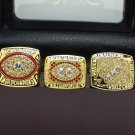 A Set Washington Redskins 1982 1987 1991 super bowl championship ring size 11 US with wooden case