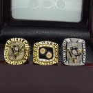 A set Pittsburgh Penguins 1991 1992 2009 Stanley Cup Championship rings size 8-14 US + Box