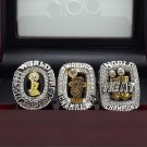 A set Miami Heat 2006 2012 2013 Basketball Championship ring replica size 10 US + Wooden Box