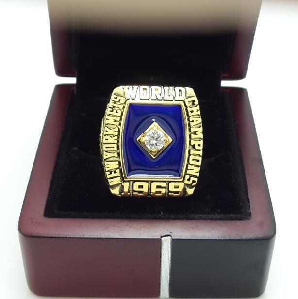 1969 New York Mets World Series Championship ring MLB ring size 8-14 US + Wooden Box