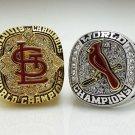 St Louis Cardinals 2006 2011 World Series Championship rings size 8-14 US 2PCS