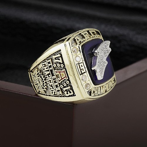 1994 San Diego Chargers American Football Championship Ring Size 10-13 US + Box