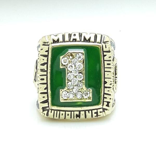 1989 Miami Hurricanes National Championship Ring size 11
