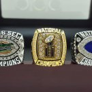 One set 2006 Florida Gators BCS SEC & National Championship ring 8-14 SIZE + Wooden Case