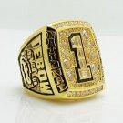 2008 Florida Gators NCAA National Championship ring 8-14S copper solid back