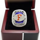 2008 Florida Gators SEC National Championship ring 8-14S copper solid back + Wooden Box