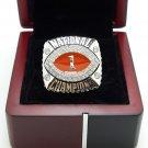 2008 Florida Gators BCS National Championship ring 8-14S copper solid back + Wooden Box
