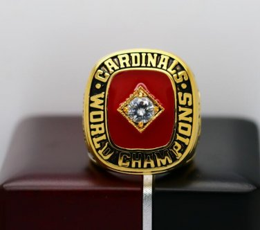 1982 St Louis Cardinals Baseball World series championship ring size 8-14 US with wooden box