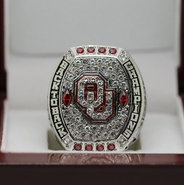 NCAA 2016 Oklahoma Sooners Big 12 National Football Championship Ring 8-14Size + Wooden Box