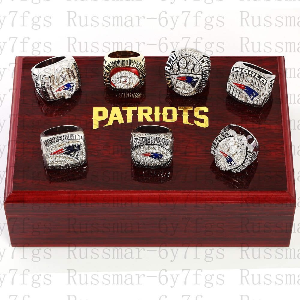 7Pcs New England Patriots super bowl championship rings size 10-13 US