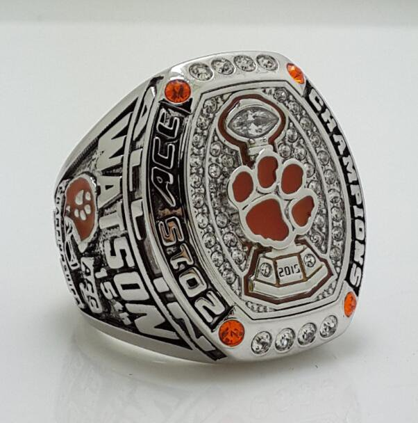 2015 Clemson Tigers ACC Football National Championship Ring Solid Size 11