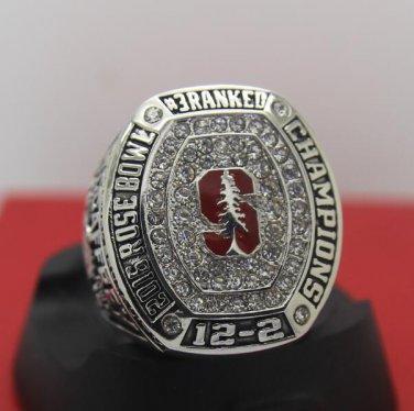2016 Stanford Cardinal Rose Bowl National Championship ring MCCAFFREY 8-14S