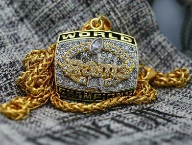 1999 St Louis Rams Super Bowl Pendant Necklace Gift