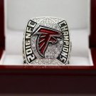 2016 Atlanta Falcons NFC Championship Ring 8-14 Size solid + Wooden Case