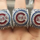 A set 2016 Chicago Cubs MLB World Series Championship rings for ZOBRIST&BRYANT&RIZZO