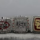 2007 2008 2009 University Southern California Trojans Rose Bowl Champions Rings Size 11 +Wooden Box