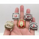 1980 2002 2003 2005 2005 Georgia Bulldogs National Championship Rings Size 11