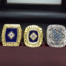 1969 1986 2015 New York Mets World Series Championship rings size 8-14 + Wooden Case