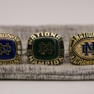 A set 1973 1977 1988 Notre Dame Fighting Irish Championship rings Size 8 9 10 11 12 13 14