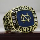 1973 Notre Dame Fighting Irish Sugar Bowl National Championship ring 8-14Size +Wooden Box