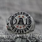 Custom Name for Dad Ring, Father's Day Gifts, Gifts for Dad, Dad Jewelry Black Size 10