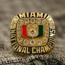 1991 Miami Hurricanes NCAA National Championship Ring Size 13