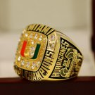 1991 Miami Hurricanes NCAA National Championship Ring Size 9 + Wooden Box