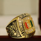 1991 Miami Hurricanes NCAA National Championship Ring Size 13 + Wooden Box