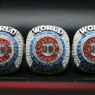 3PCS 2016 Chicago Cubs World Series Championship ring Size 11 For ZOBRIST+BRYANT+RIZZO