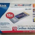 D-Link DWL-G650 AirPlus XtremeG Notebook Adapter PCMCIA card