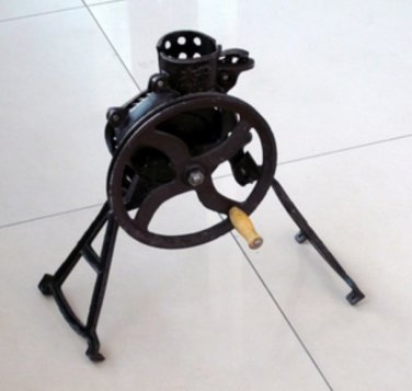 CORN SHELLER - Hand Crank Antique Corn Sheller Walnut Huller Burr Mill Vintage Black
