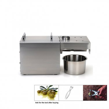 Cold Olive Oil Press Machine - NEWEST Electric Seed Oil Press Mill [8-15 lbs/ hr Super 304 S.S.]