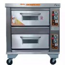 Gas Roasting / Baking Deck Type Oven - 2 Decks 2 Trays-  Stainless Steel Deck Oven