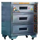 GAS Pizza Oven - 3 Decks 3 Trays - Stainless Steel GAS Pizza Oven