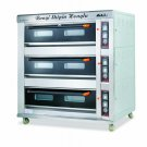 Electric or Gas Baking Oven, 3 Decks 9 Trays, Front Stainless Steel,