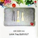 """LAVA Trays 10 PCS 23.6""""X15.7"""" Gas Lava Rock Commercial Cooking Platter STEAKSTONES"""