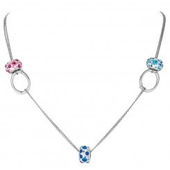 Personality bead charm jewelry collection double stranded Necklace with detachable ovals