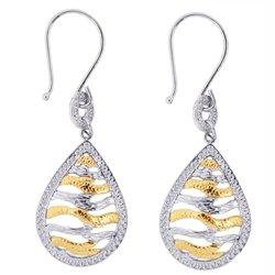 Royal Royal Duet Sterling Silver & 14K Gold Fancy Drop Earrings