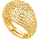 Stil Novo 14k Gold Graduated High Domed Mesh Ring Hand Made In Italy