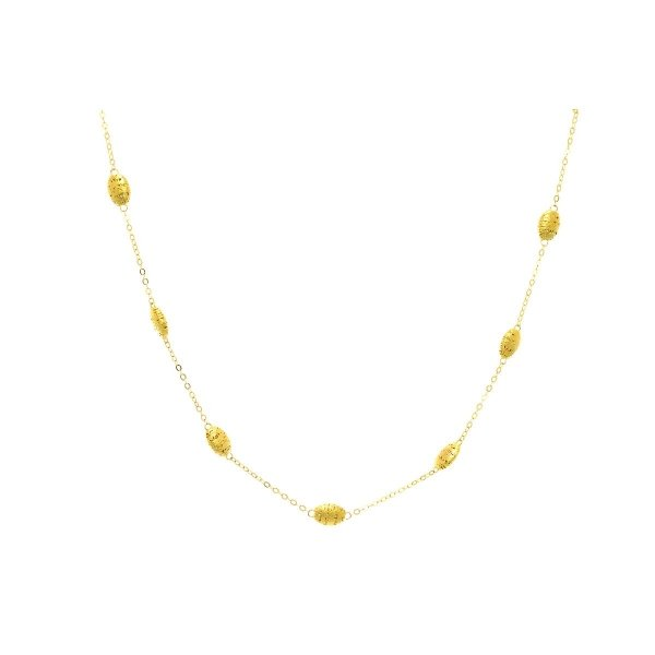 "Stil Novo - 18"" 14kt Yellow Gold Birds Nest Station Cable Chain Necklace"