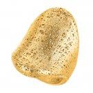 STIL NOVO 14K Gold Graduated Concave Mesh Ring 6.1gr  R932