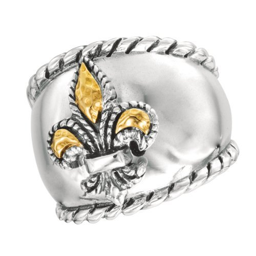 Phillip Gavriel 18k Gold & Sterling Silver Collection Ring silr117