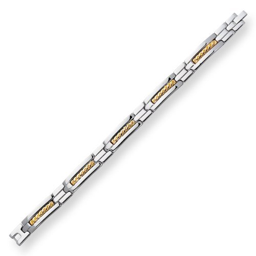 Joseph Tyler 18kt & Stainless Steel Link Jewelry By Joseph Tyler Men's 18kt gold Bracelet