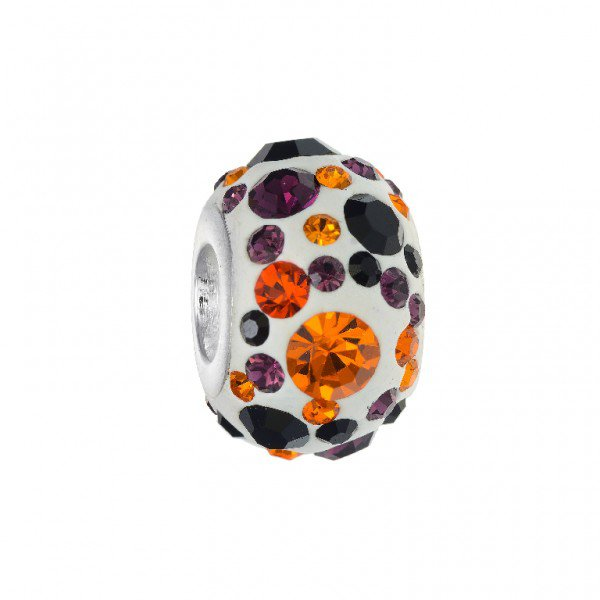 Personality orange and brownround crystal kaleidoscope bead