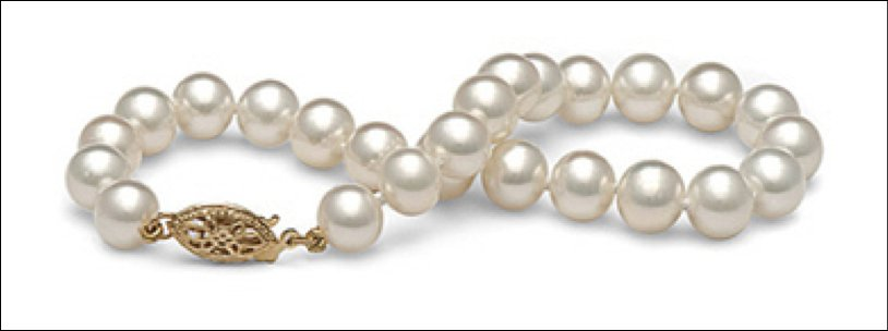 AAA Quality Round 7.5-8mm White Pearl Bracelet Hand picked and matched by GIA Certified Gemologist