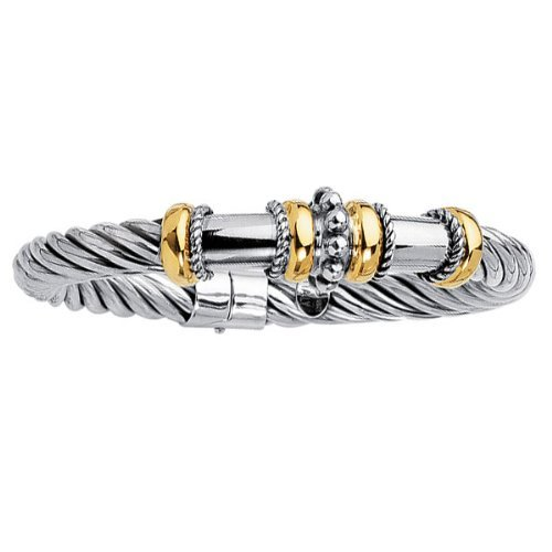 Phillip Gavriel 18k Gold & Sterling Silver Collection Bangle