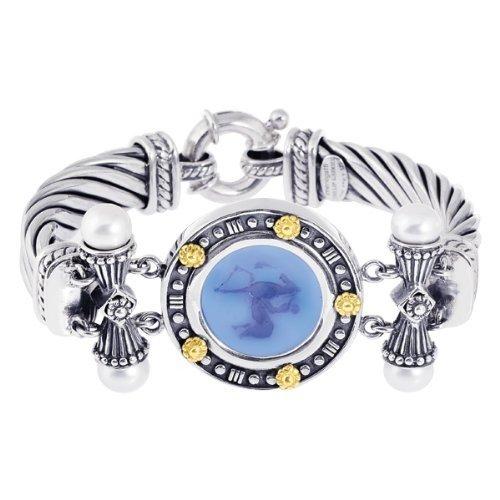 Phillip Gavriel 18k Gold & Sterling Silver Collection Bluino Cameo Bangle