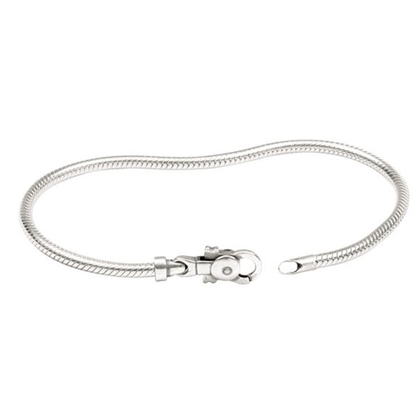 Personality Sterling Silver Snake Chain Bracelet for charms Beads
