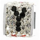 """Personality jewelry collection Red+Blue+White Crystal Inital """"Y"""" Cube Bead"""