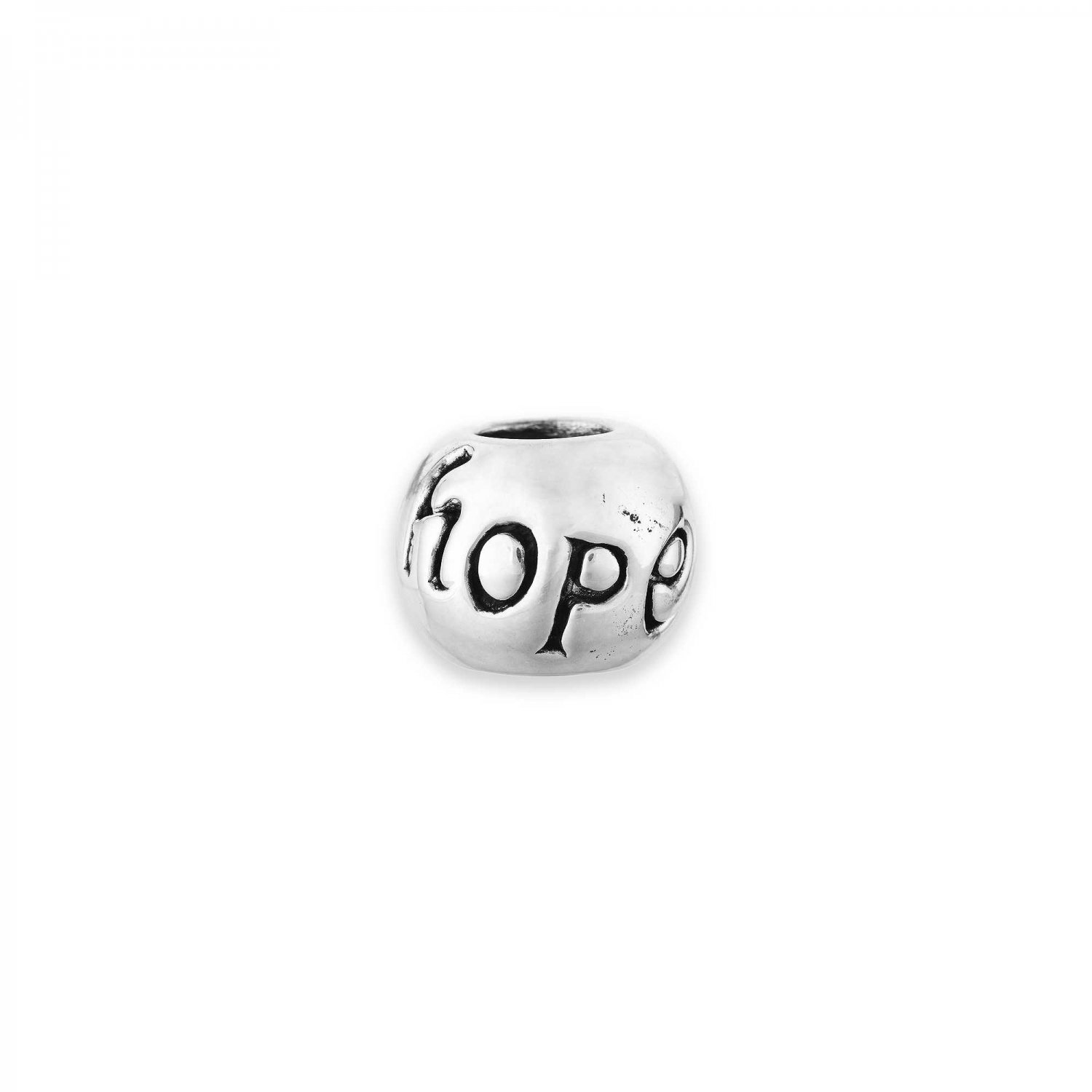 """Personality Oxidized Sterling Silver """"Hope"""" Bead"""